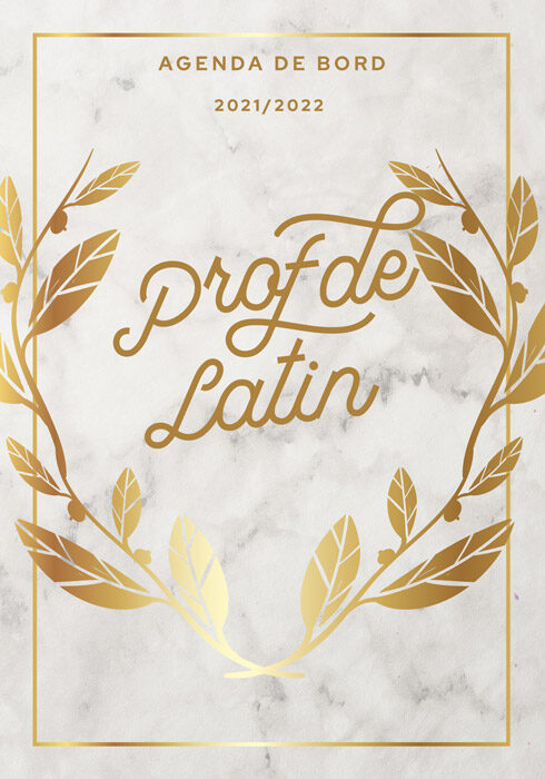 Agenda de bord 2021/2022 prof de latin