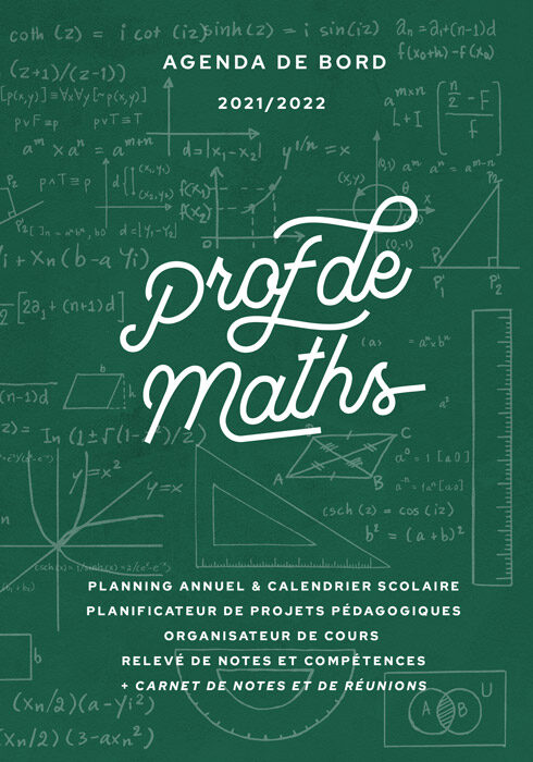 Agenda de bord 2021/2022 prof de maths