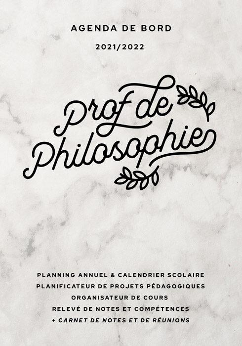 Agenda de bord 2021/2022 prof de philosophie