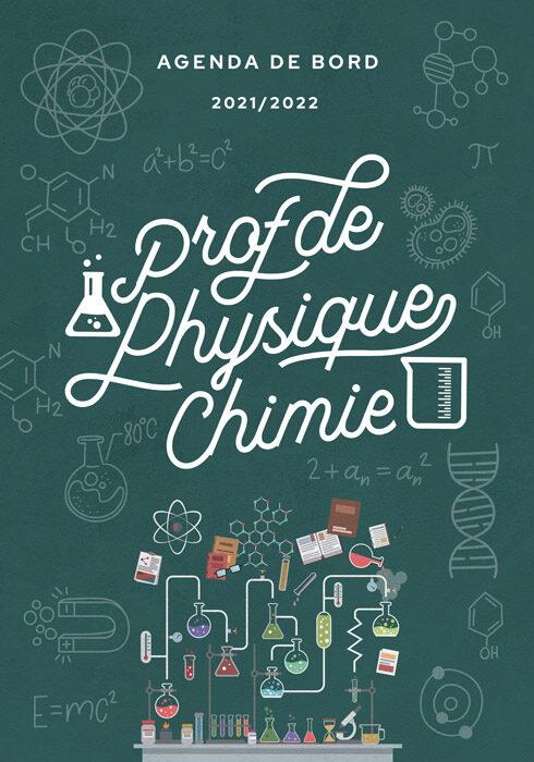 Agenda de bord 2021/2022 prof de physique chimie