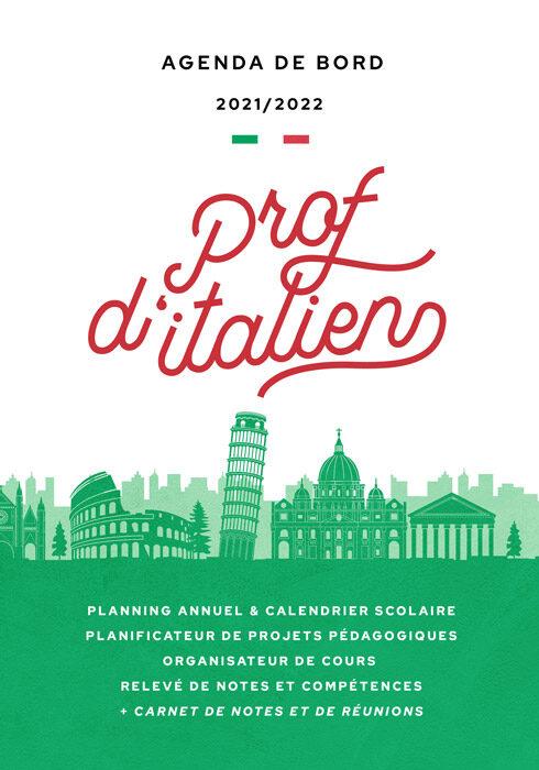 Agenda de bord 2021/2022 prof d'italien