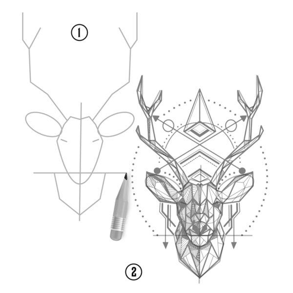tuto-comment-dessiner-un cerf-en-tatouage-01